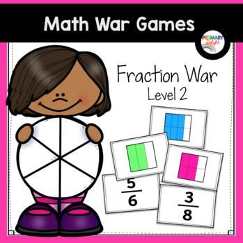 Fraction Game: Fractions War - Level 2