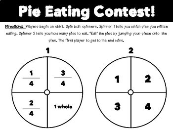 Fraction Game: Pie Eating Contest