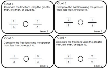 FSA and Common Core Fraction Game (48 problems covering 3.NF 1.1, 1.2, & 1.3)
