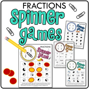 picture relating to Printable Fraction Games identified as Analyzing Fractions Printable Math Spinner Video games