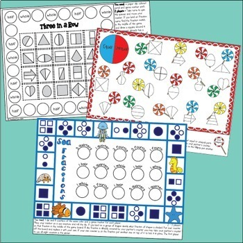 Fraction Games for First Grade