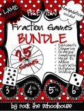 Fraction Games Bundle PREVIEW (Free Manipulatives)
