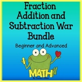 Fraction Games - Fraction Addition and Subtraction War and Task Cards Bundle!
