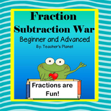 Fraction Games - Fraction Subtraction War and Task Cards!
