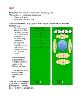 Fraction Games -Hockey, Golf, Bowling, Shuffleboard and Stair Toss