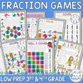 Fraction Games 3rd and 4th Grade
