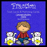 Fraction Games Scoot and Concentration - Task Cards and Ma