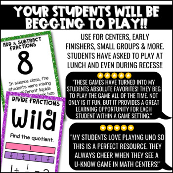 Fraction Games | U-Know Fraction Review Games MINI Bundle {5th Grade}
