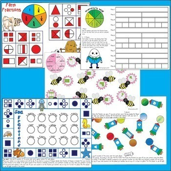 Fraction Games, Activities, Worksheets and Posters - Australian Curriculum