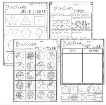 Fraction Games and Worksheets