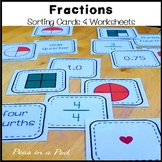 Fraction Games and Worksheets & Equivalent Fractions Sort