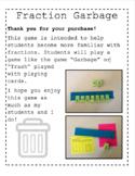 Fraction Garbage- Math Game
