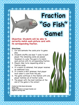 Fraction Go Fish Game!