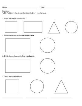 Fraction Gr. 1 Assessment