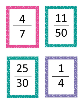Rounding Fraction Grab and Go Game