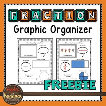 Fraction Graphic Organizer Freebie