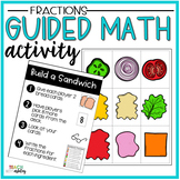 Fraction Guided Math Activity Build a Sandwich