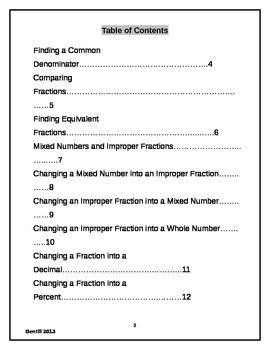 Fraction Handbook