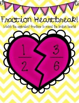 Fraction Heartbreak - Equivalent Fractions