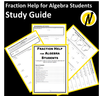 Fraction Help for Algebra Students Study Guide