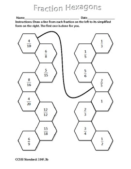 Grade 3 Math Activity - Fraction Hexagons