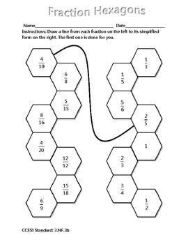 Grade 3 Math Activity - Fraction Hexagons