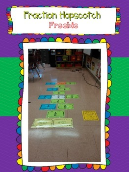 Fraction Hopscotch {Equivalent Fractions, Adding Fractions, and Mixed Numbers}