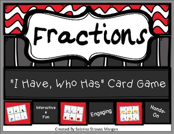 Fraction (I Have Who Has) Game