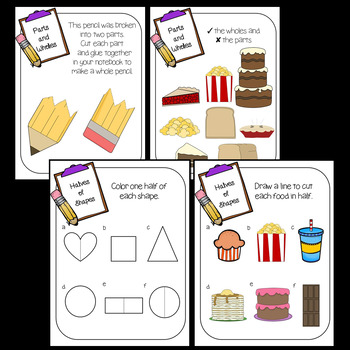 Fraction Activities (Fraction Worksheets 1st Grade and 2nd ...