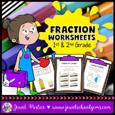 Fraction Worksheets 1st Grade and 2nd Grade