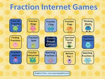 Fraction Internet Games SMART Board Lesson