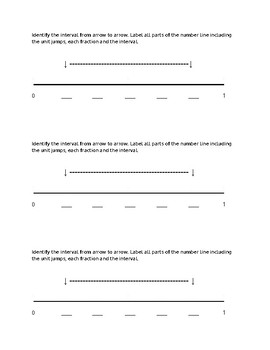 Fraction Interval Exit Ticket