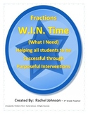 Fraction Intervention/Mini lessons (W.I.N. Time)