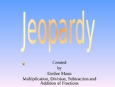 Review- 5th Grade Fraction Jeopardy **No Prep**