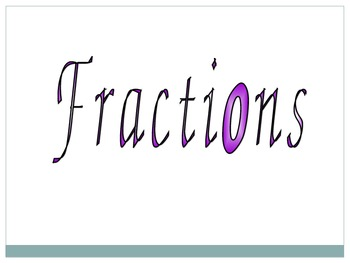 Fraction Jeopardy PPT (5th and 6th)