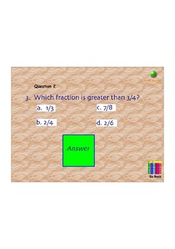 Fraction Jeopardy Review Flipchart - Comparing, Adding/Subtracting/Multiplying
