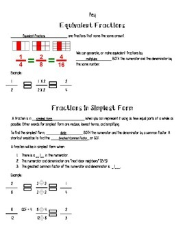 Fraction Journal Notes