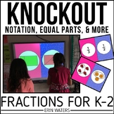 Fraction Game KNOCKOUT {Notation, Equal Parts, & More!}