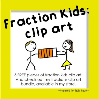 Fraction Kids Clip Art FREEBIE