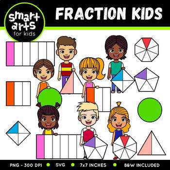 Fraction Kids Clip Art
