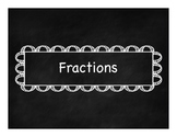 Fraction Label FREEBIE!