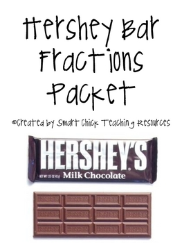 hershey fractions teaching resources  teachers pay teachers  fraction labs using hershey candy bars set of
