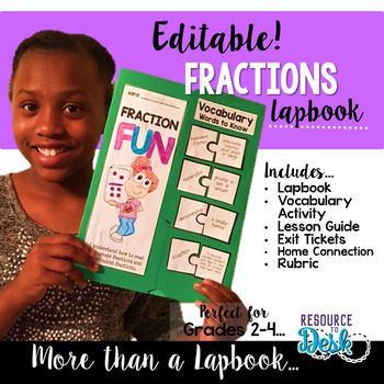 Fraction Lapbook {EDITABLE}  Fraction Activities & MORE