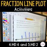 Fraction Line Plot Activities - 4.MD.4 and 5.MD.2