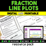 Fraction Line Plot Packet