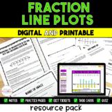 Fraction Line Plot Packet