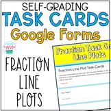 Fraction Line Plot Task Cards Google Form Distance Learning