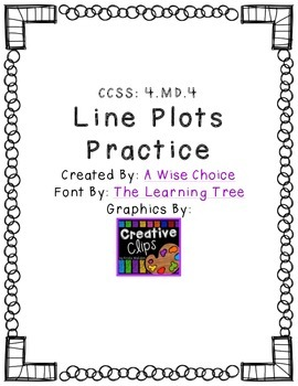 Fraction Line Plots Practice