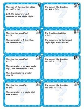 Fraction Logic Cards