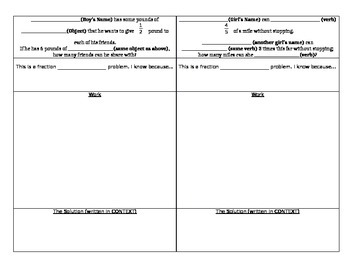 Fraction Mad Lib Book Project